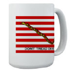 Dont Tread on Me Flag Coffee Mug