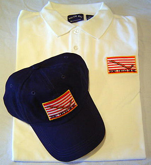 Navy Jack Dont Tread Polo Shirt & Cap